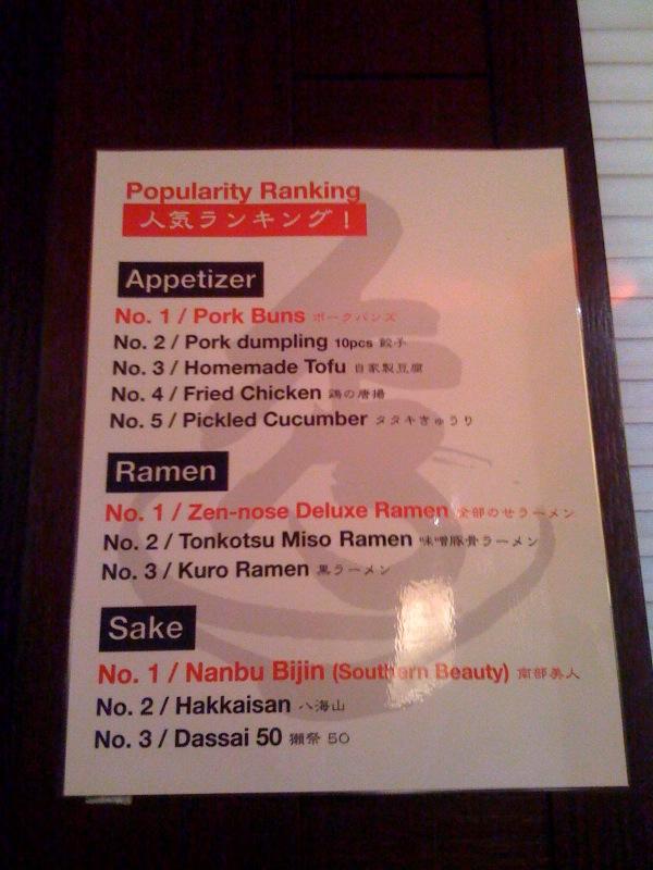 Hide-Chan Ramen - Popularity Ranking