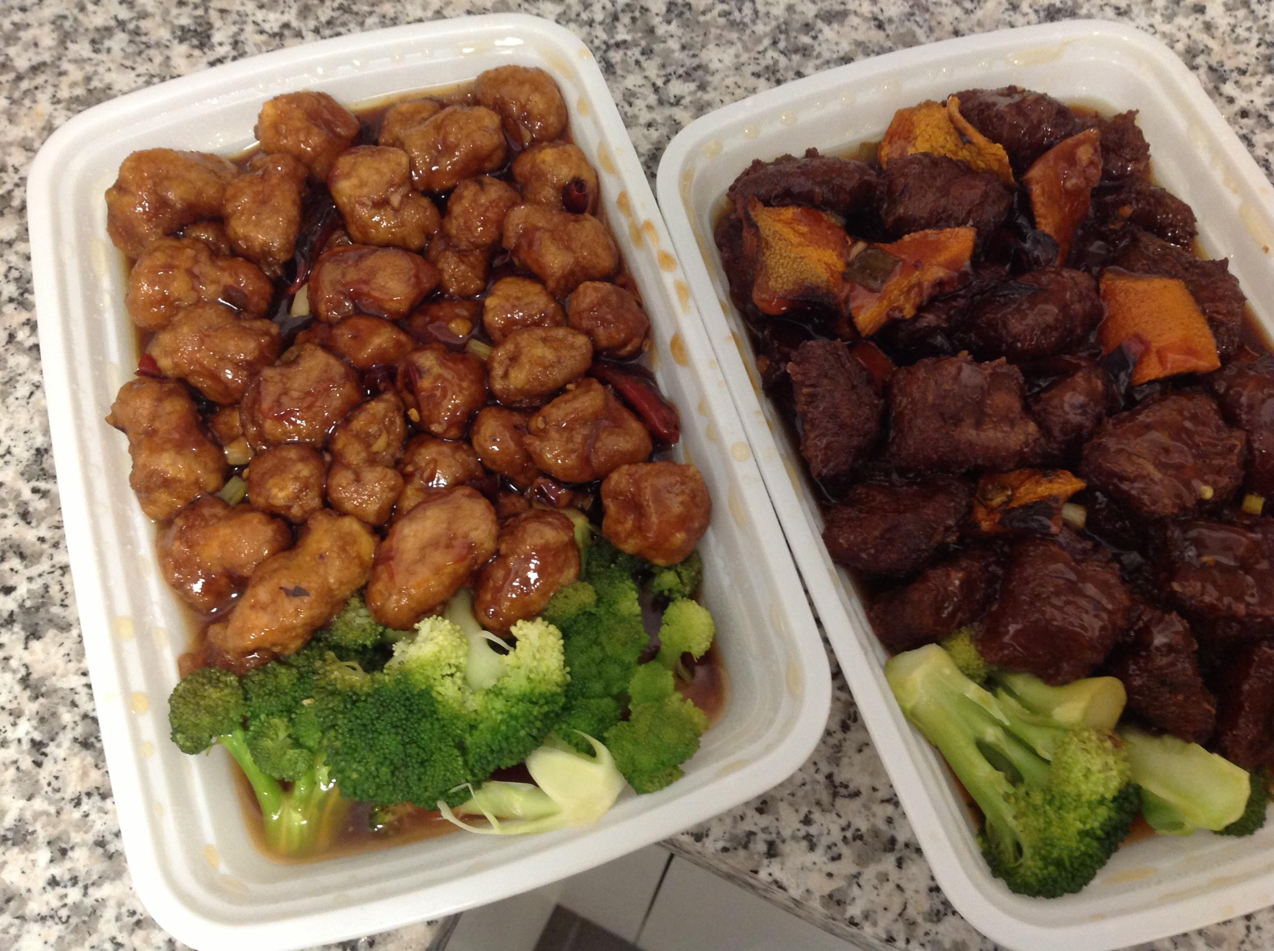 Takeout - General Tsao's Chicken, Orange Beef
