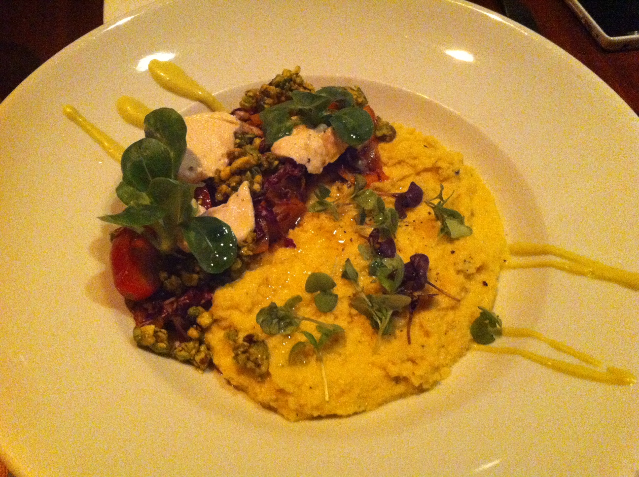 Pure Food & Wine - Cauliflower & Sweet Corn Polenta