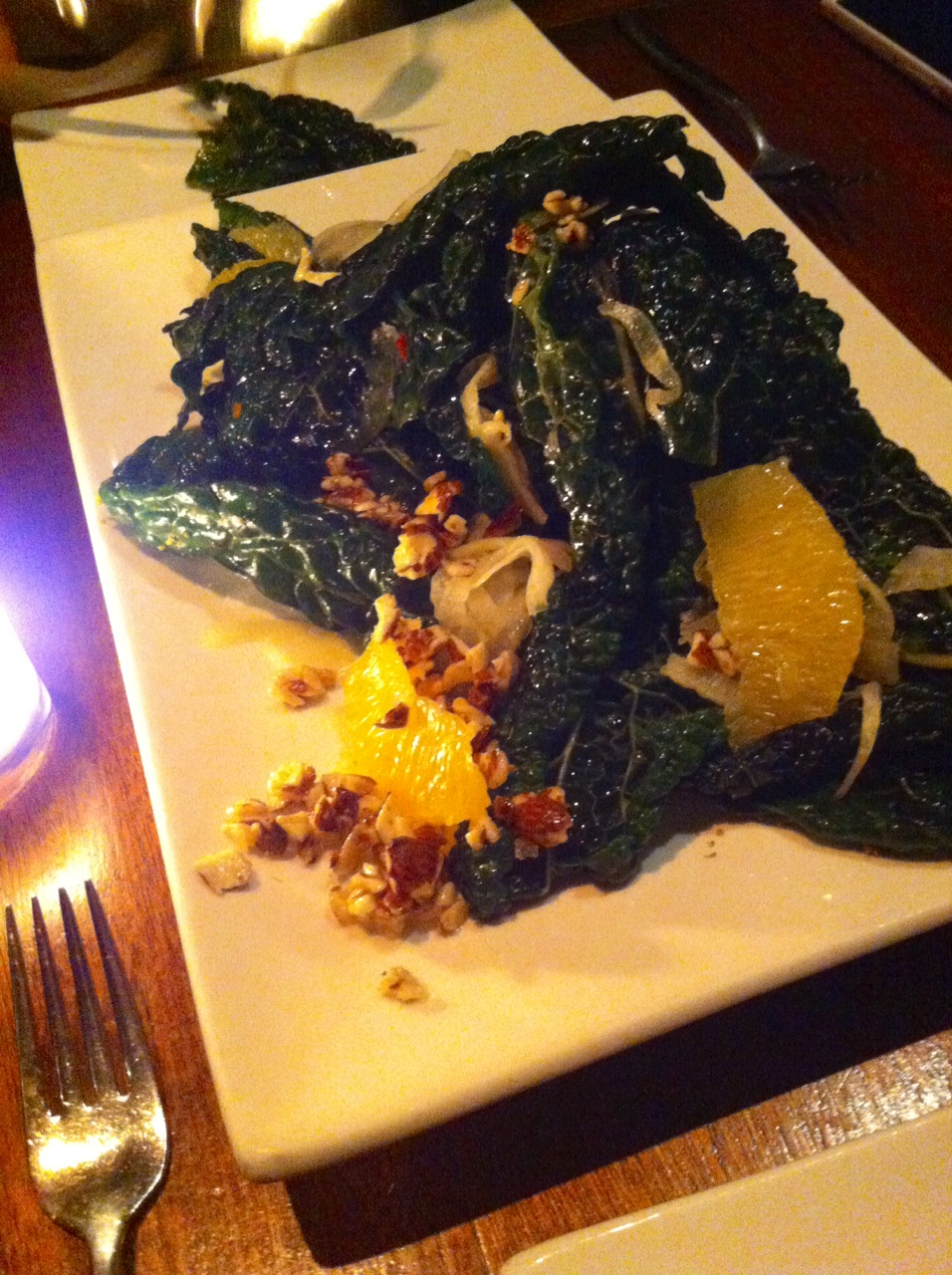 Pure Food & Wine - Tuscan Kale with Shaved Fennel & Orange