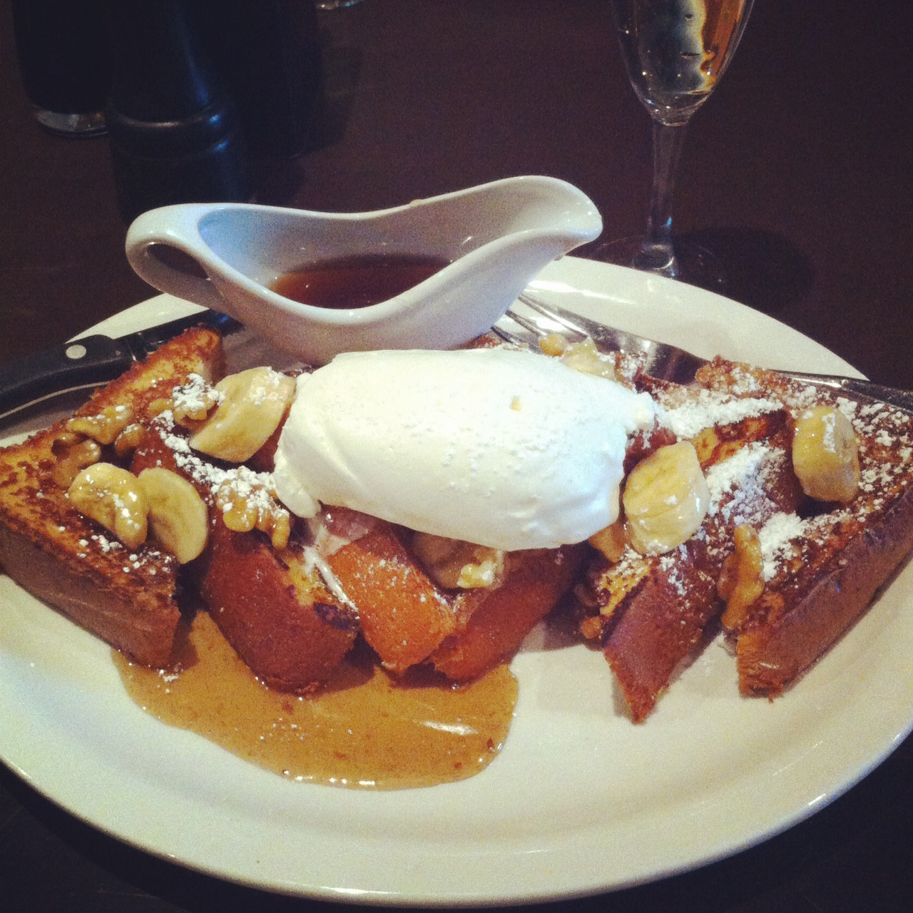Bananas Foster French Toast - Fire & Oak