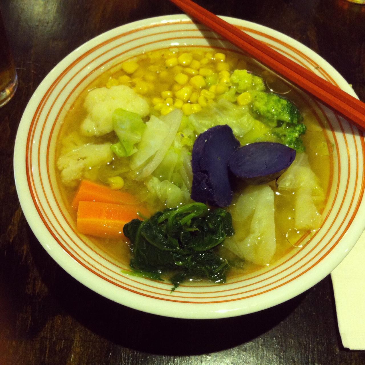 Yasai Vegetable Ramen, Lucky Cat Ramen