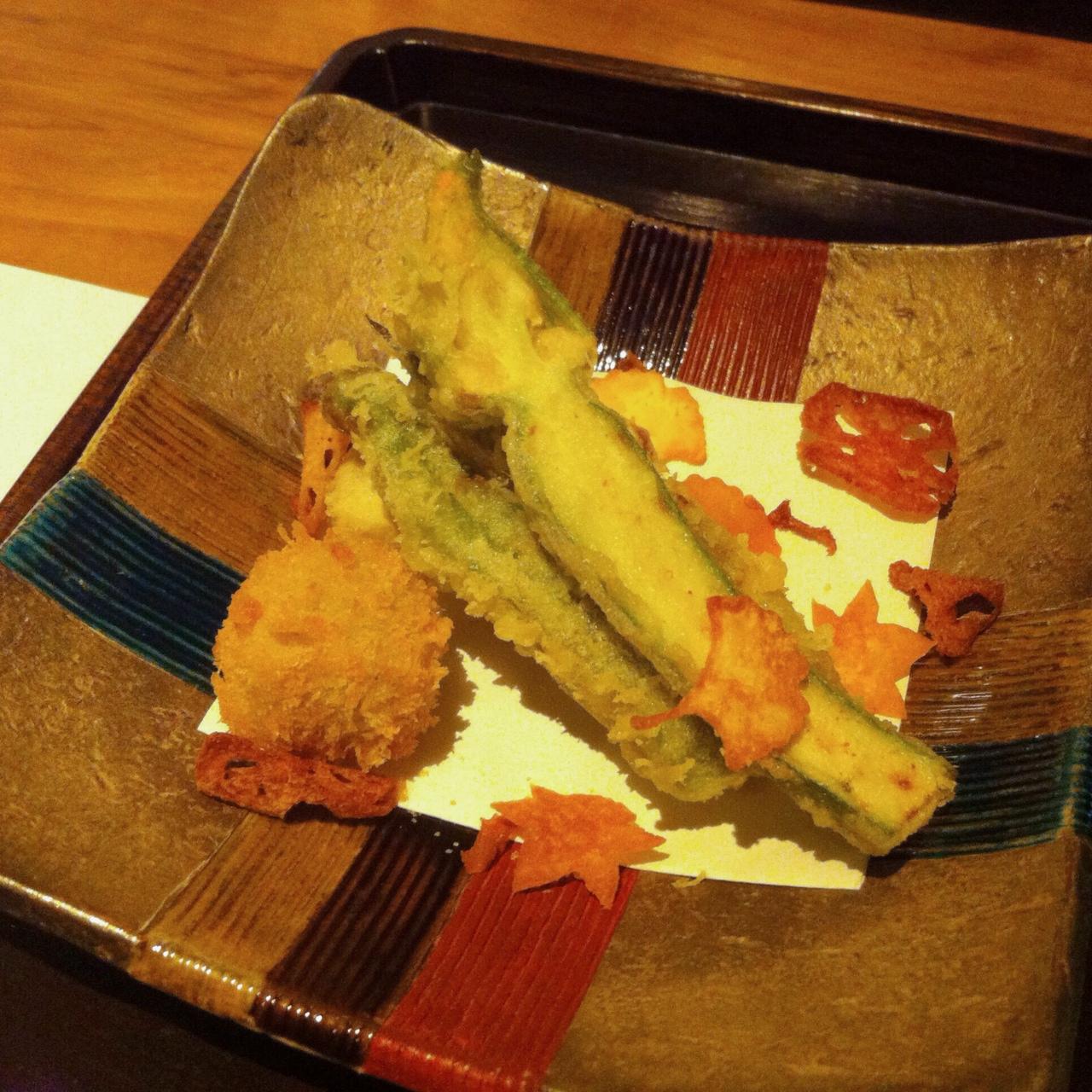 Early Fall Vegetable Tempura, Kajitsu