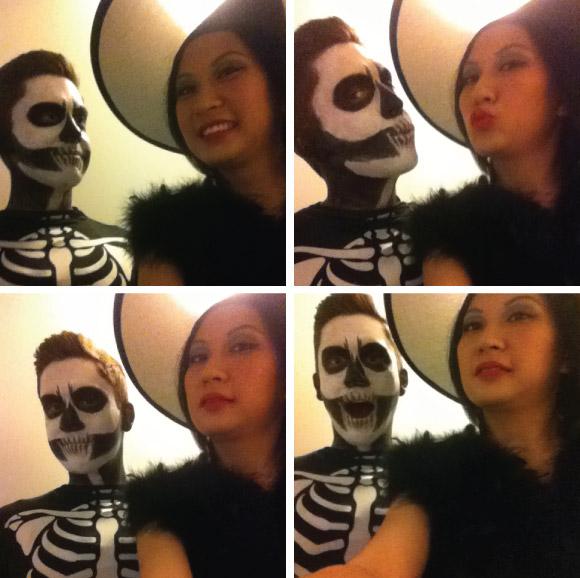 Halloween Skeleton & Witch Costume