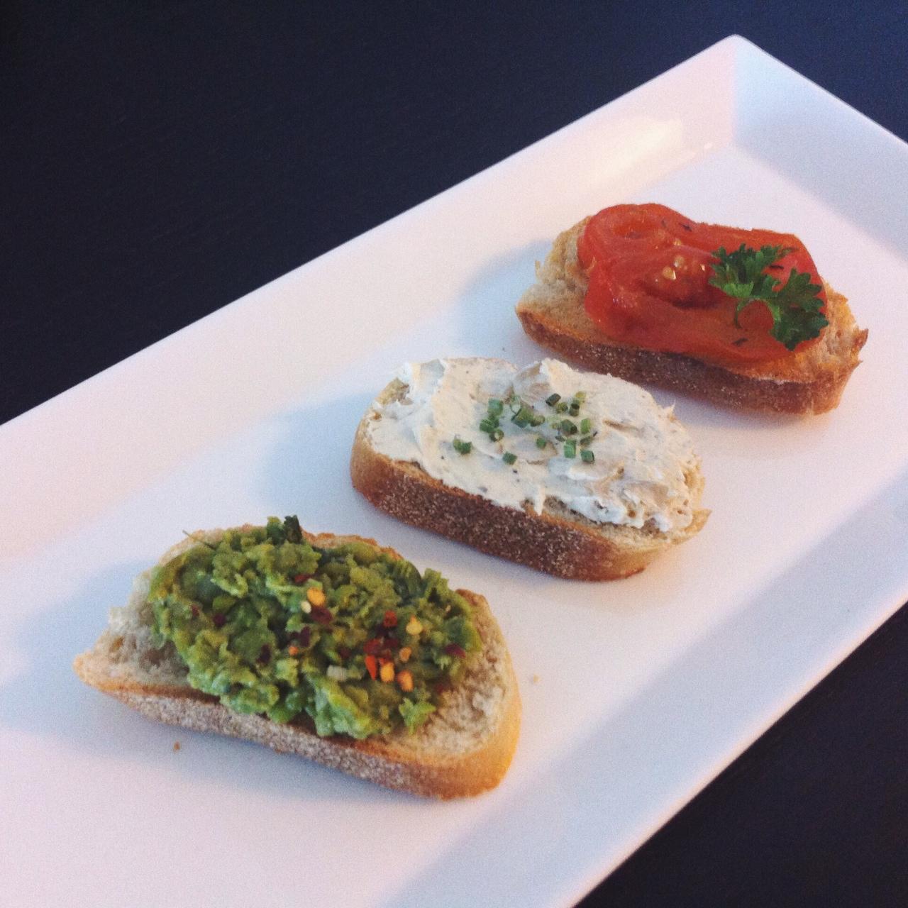 Vegetarian Crostinis Brunch