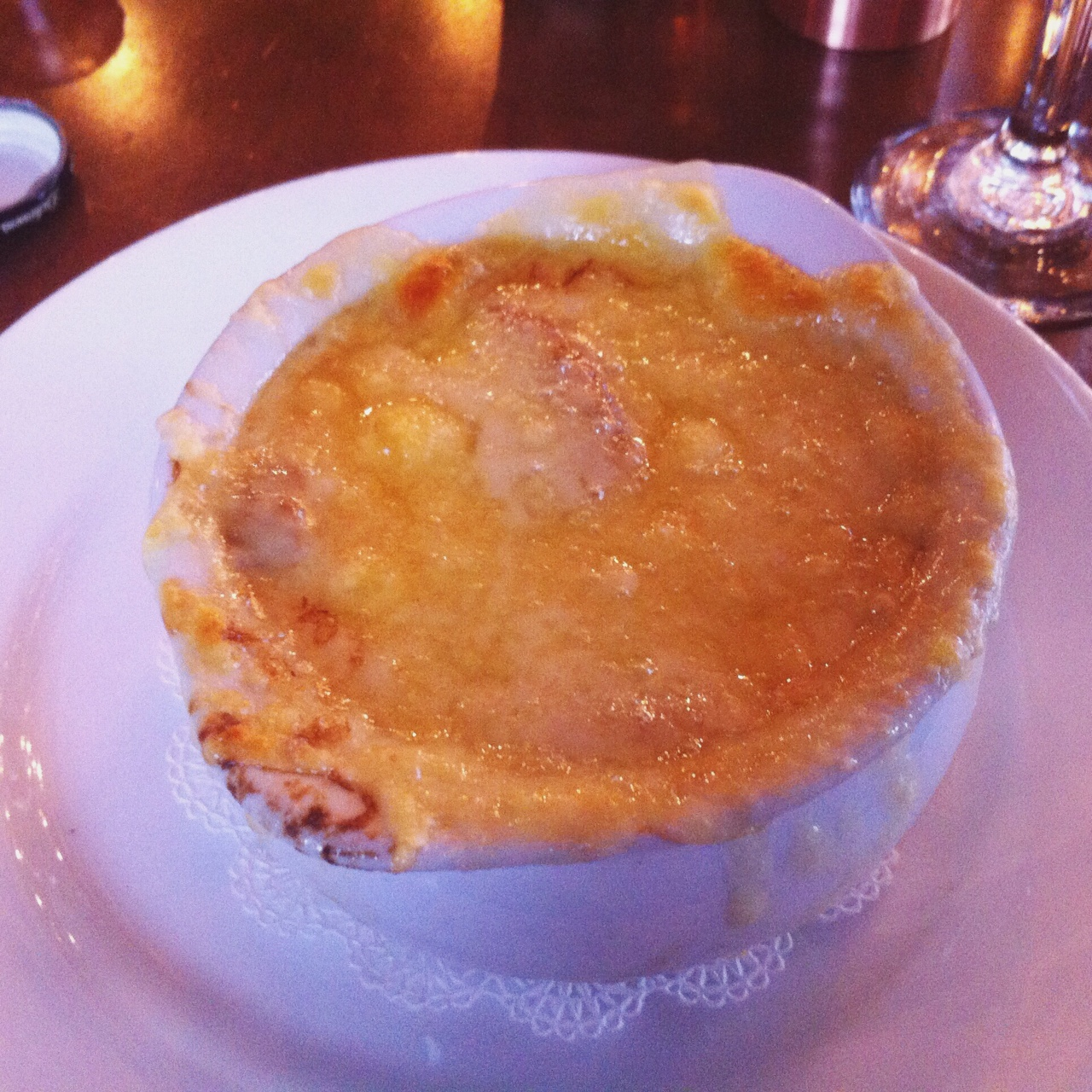French Onion Soup, The Brass Rail, Hoboken