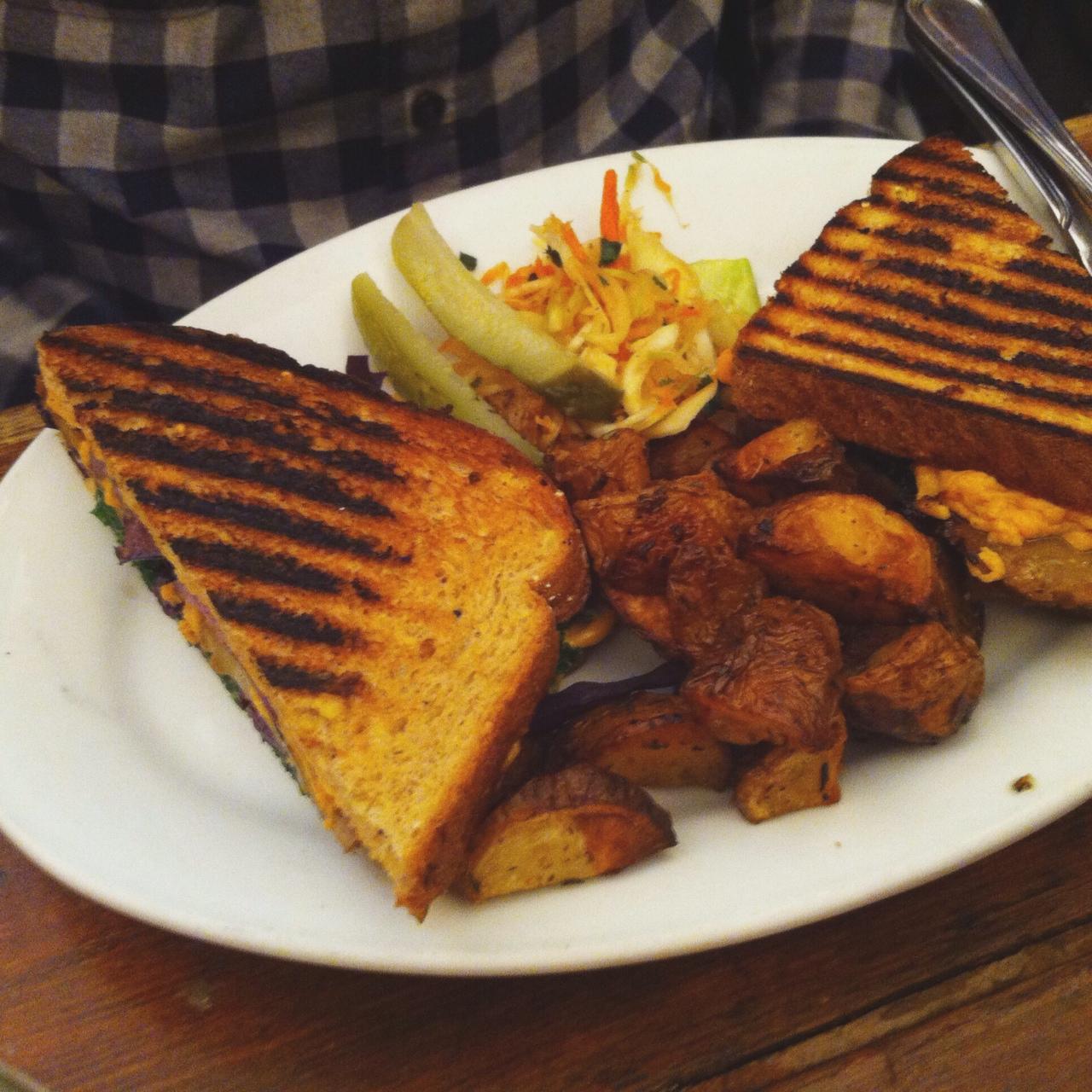 Seitan Sauerkraut Sandwich, The Organic Grill