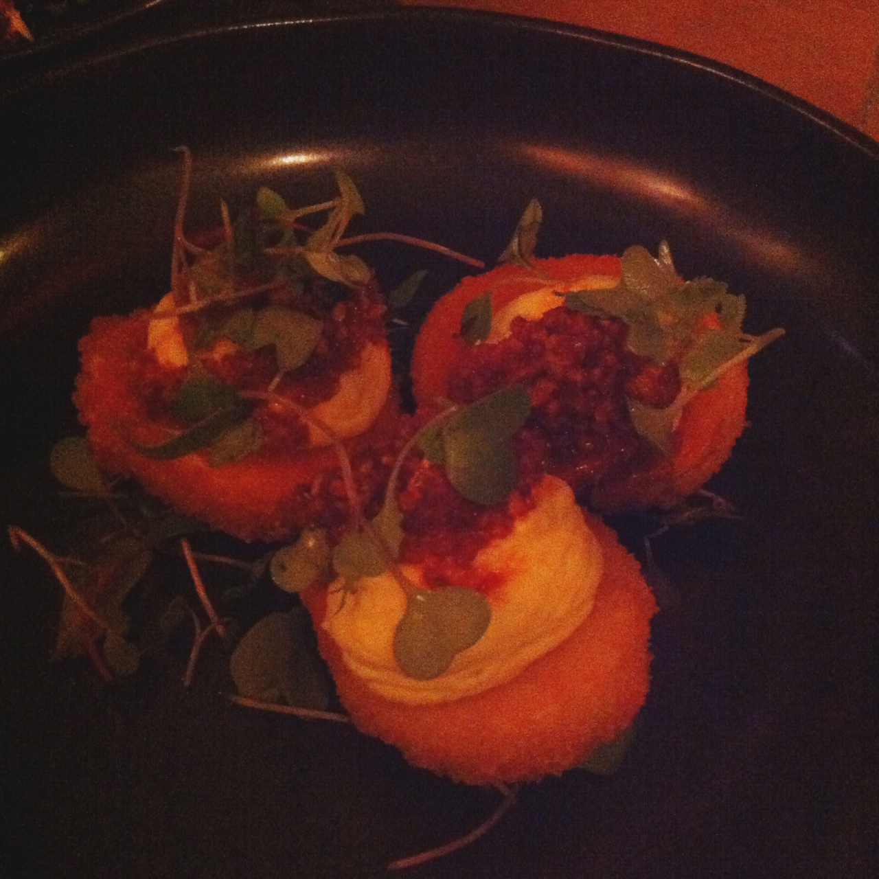 Fried Deviled Eggs, Tuome