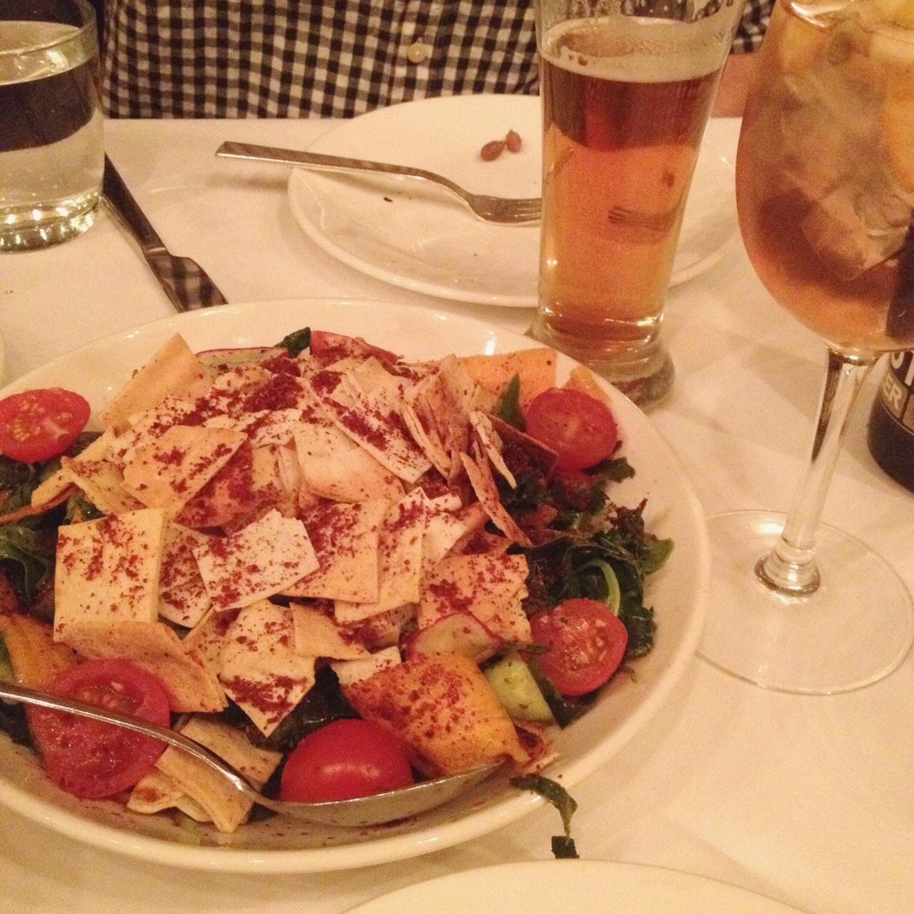 Kale Fattoush Salad, ilili Restaurant