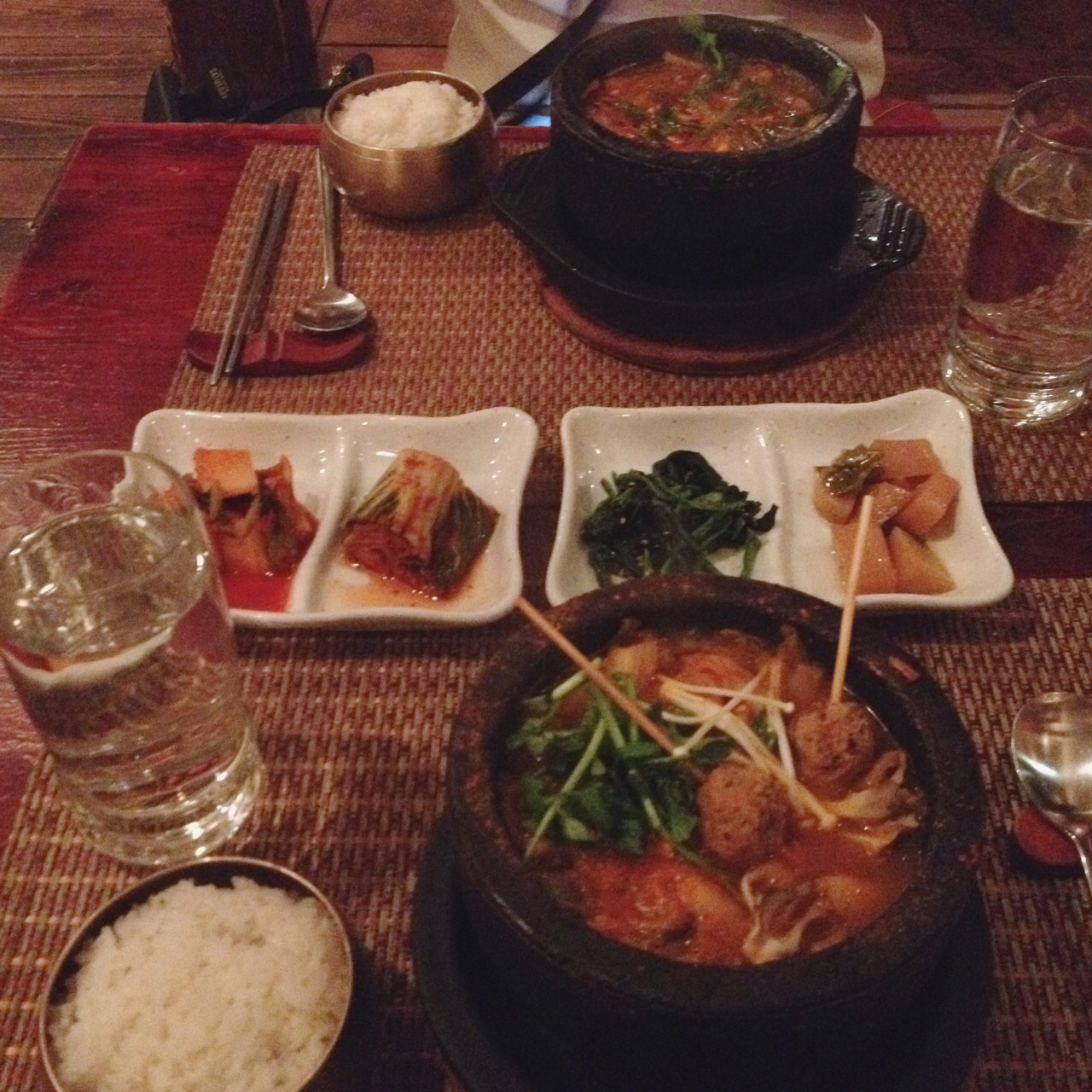 Mongolian Hot Pot & Tofu Kimchi Hot Pot, Hangawi