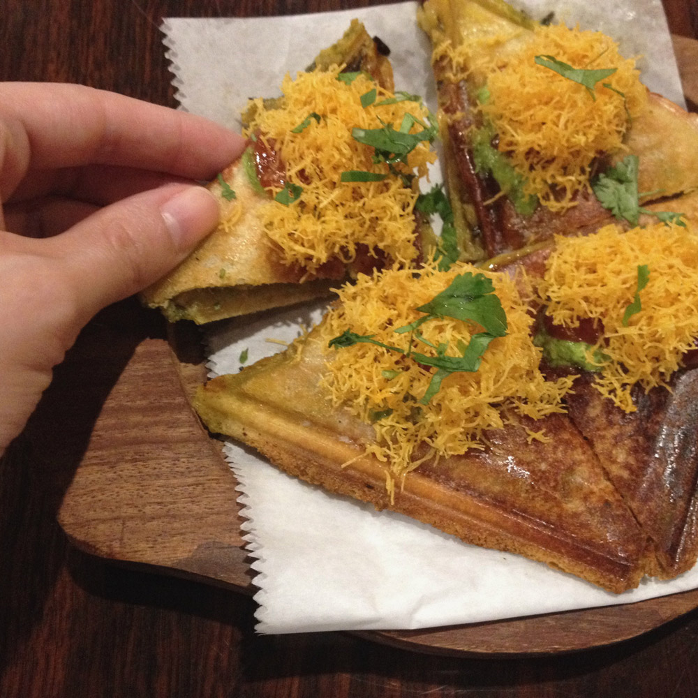 Aloo Toast, Indian Street Eats, Kailash Parbat
