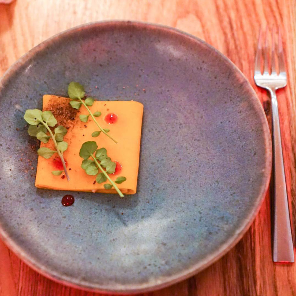 Butternut Squash with Pickled Quince, Semilla
