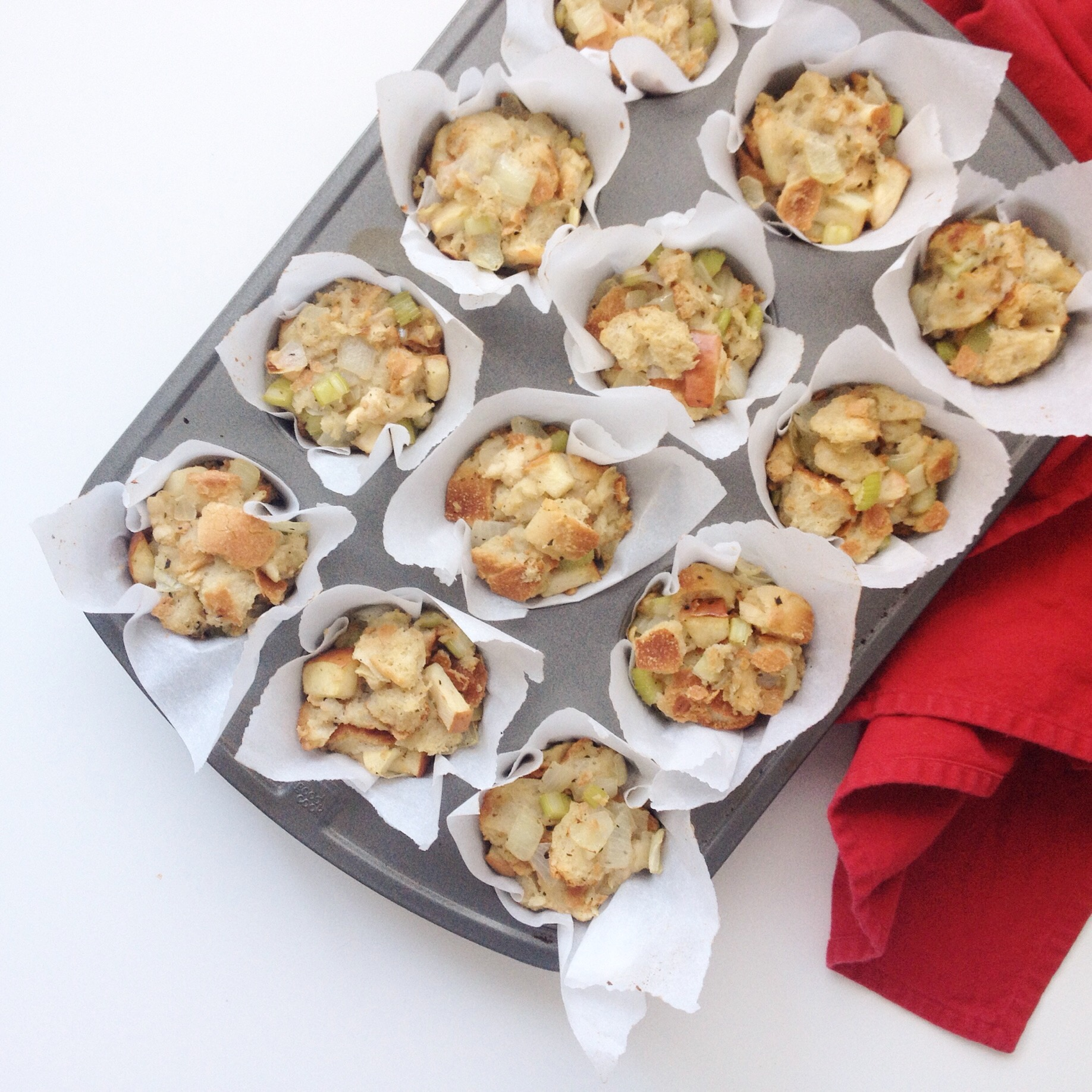 Vegan Thanksgiving Stuffing Muffins