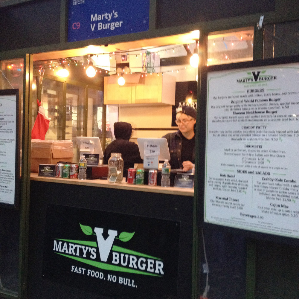 Marty's V Burger Pop Up, Winter Village
