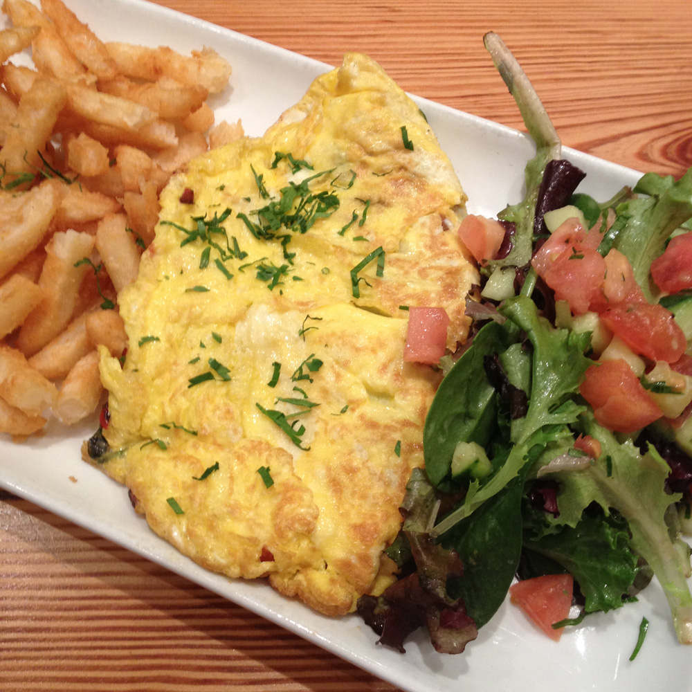 Mediterranean Omelet, Hummus Kitchen, Upper East Side