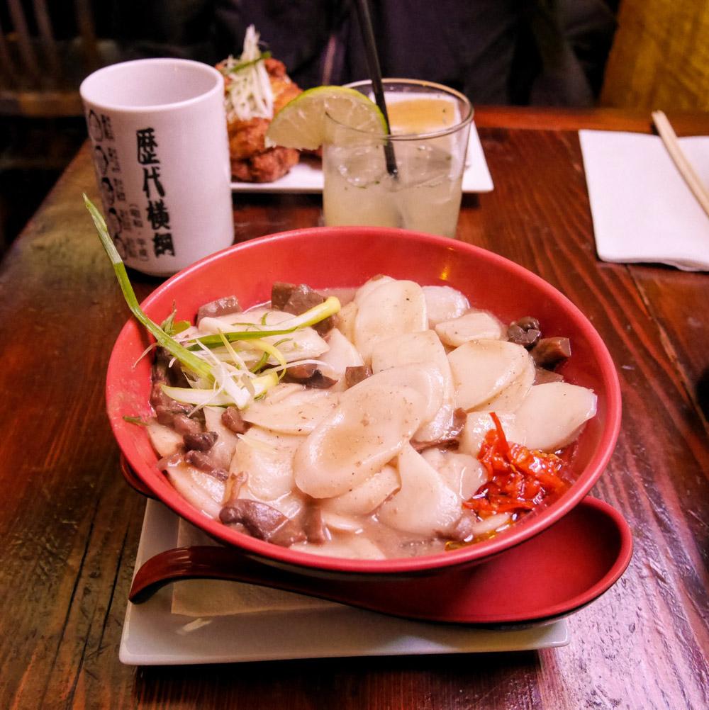 Mushroom Rice Cakes, Dassara Ramen