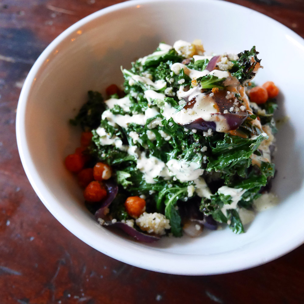 Grilled Kale Salad, Hunter's Brooklyn