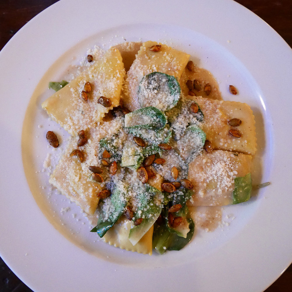 Butternut Squash Agnolotti, Hunter's Brooklyn