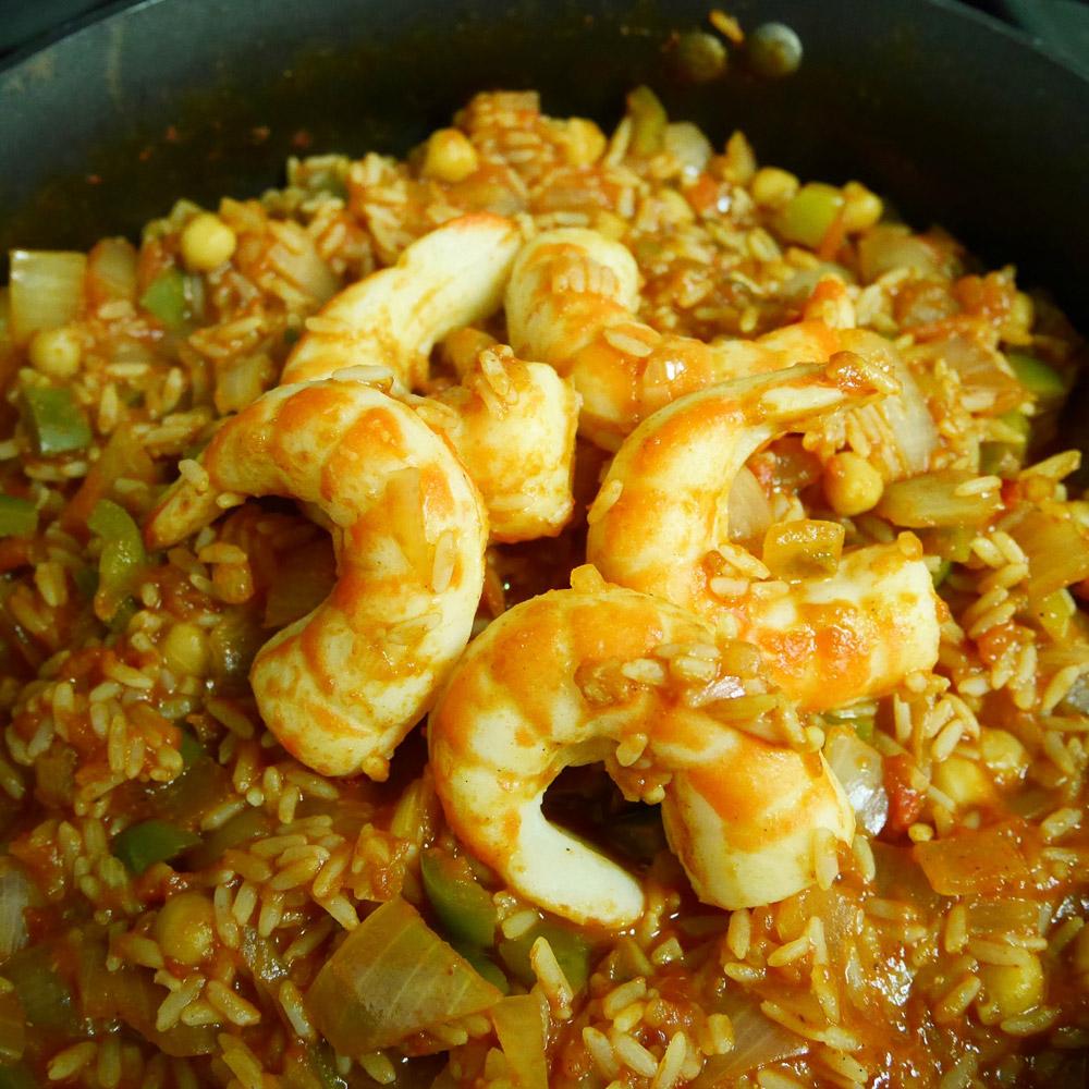 May Wah Vegan Shrimp Jambalaya