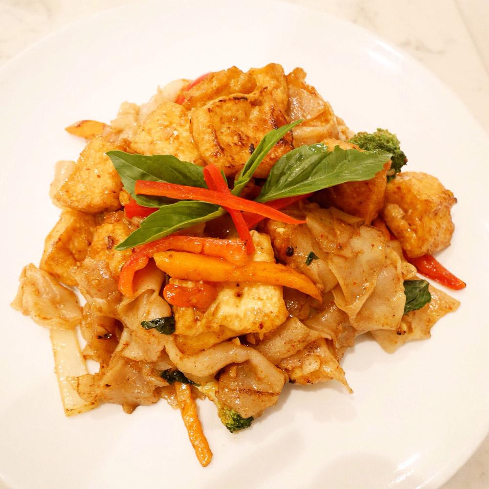 Vegan Drunken Noodles, Bangkok Cuisine