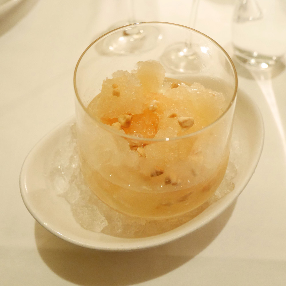 Ruby Red Grapefruit Granita Parfait, Telepan