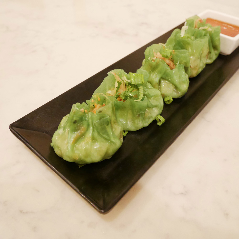 Vegan Emerald Vegetable Dumplings, Bangkok Cuisine