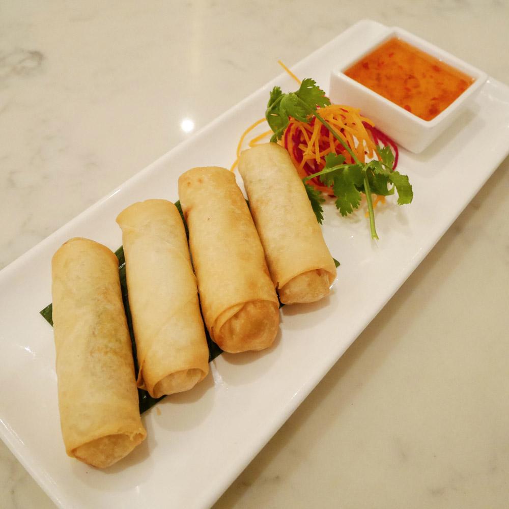 Vegan Crispy Spring Rolls, Bangkok Cuisine