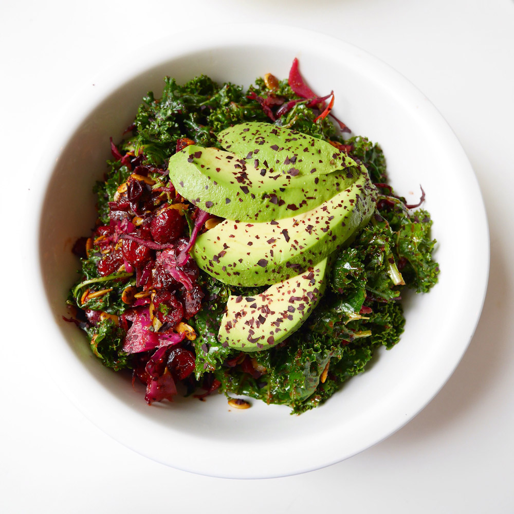 Raw Vegan Kale Dulse Salad, Rockin Raw