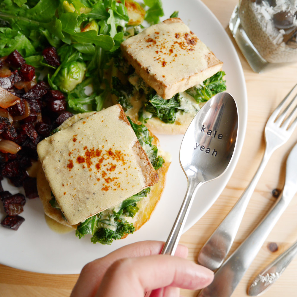 Tofu Florentine Benedict, Vegan Brunch Recipes