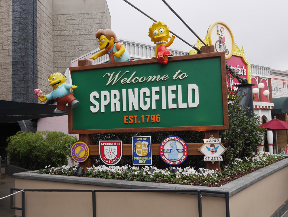 Welcome to Springfield, The Simpsons, Universal Studios Hollywood