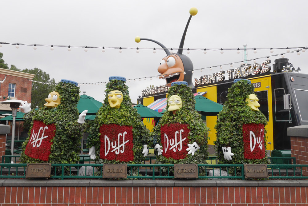 Duff Beer Garden, The Simpsons, Universal Studios Hollywood