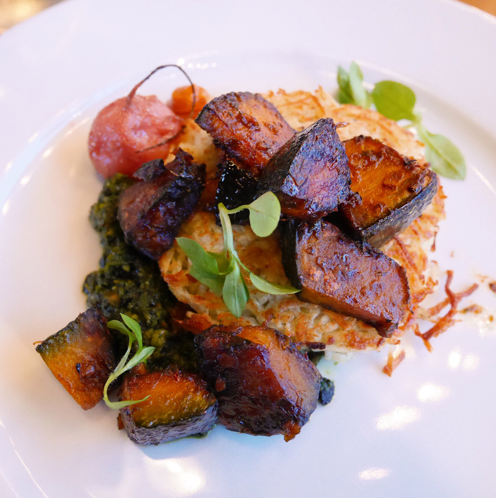 Sweet Potato Cake, Harvest at the Bindery, Portland Dining Month