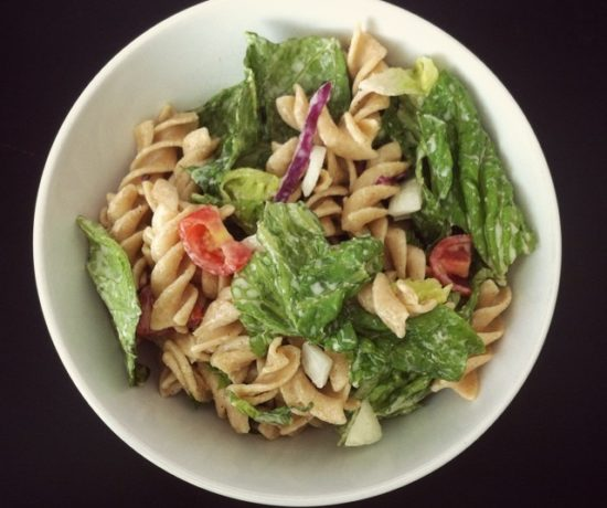 Whole Wheat Pasta Salad with Ranch