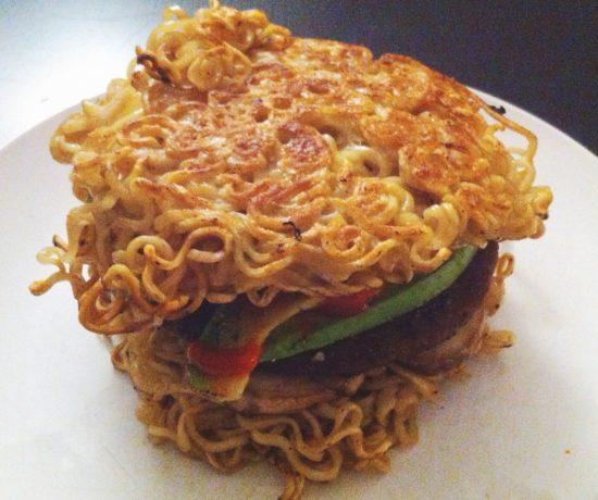 Vegetarian Ramen Burger