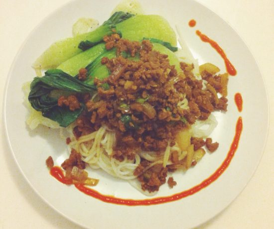 Noodles with Minced Pork & Bok Choy