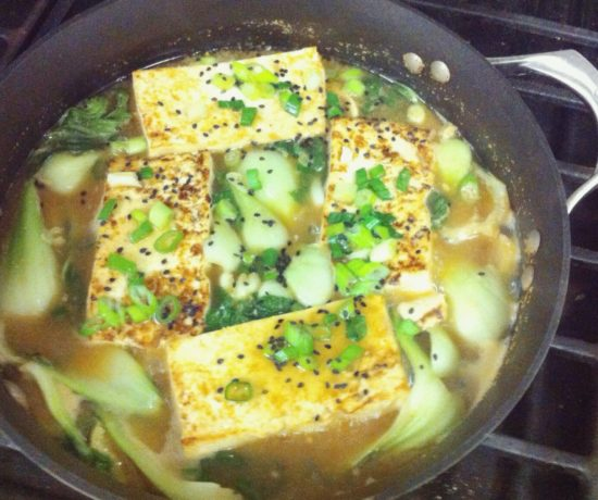 Tofu & Bok Choy in Miso Broth