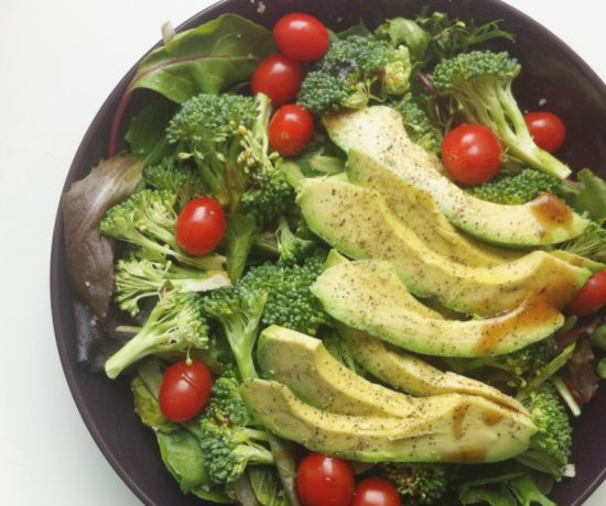 Spring Greens Salad, Broccoli, Avocado, Cherry Tomatoes
