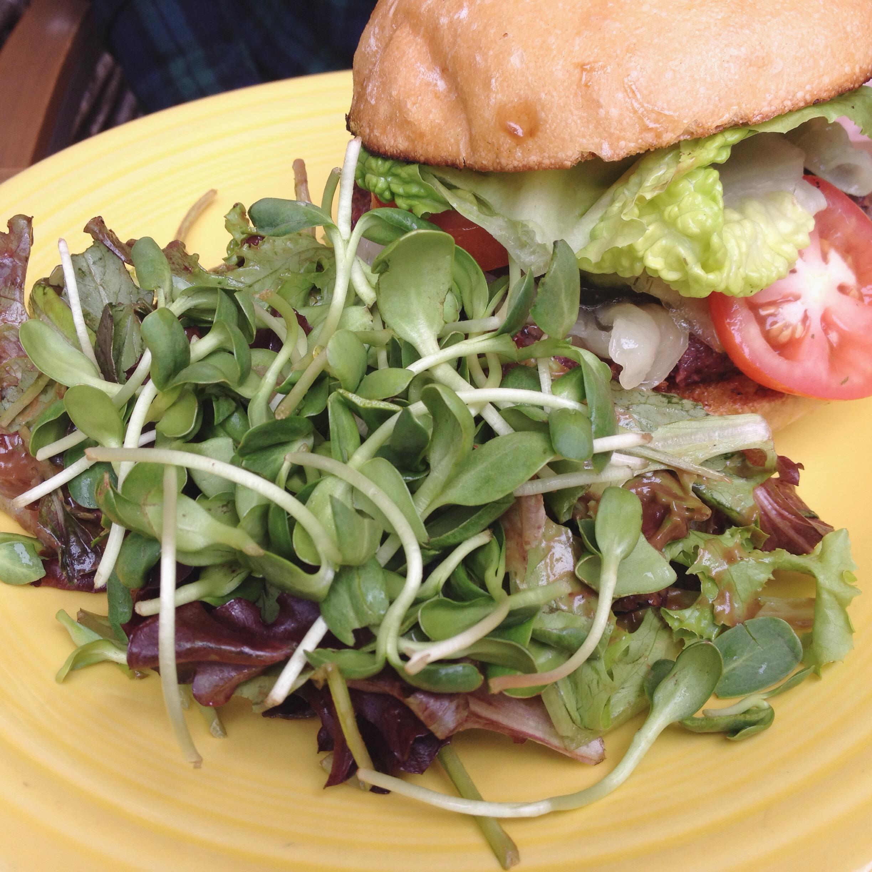 Black Bean Burger, Cafe Gratitude
