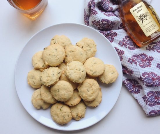 Cheddar Chive Biscuits, Honey Iced Tea