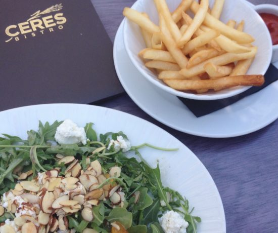 Arugula Salad, Fries, Ceres Bistro