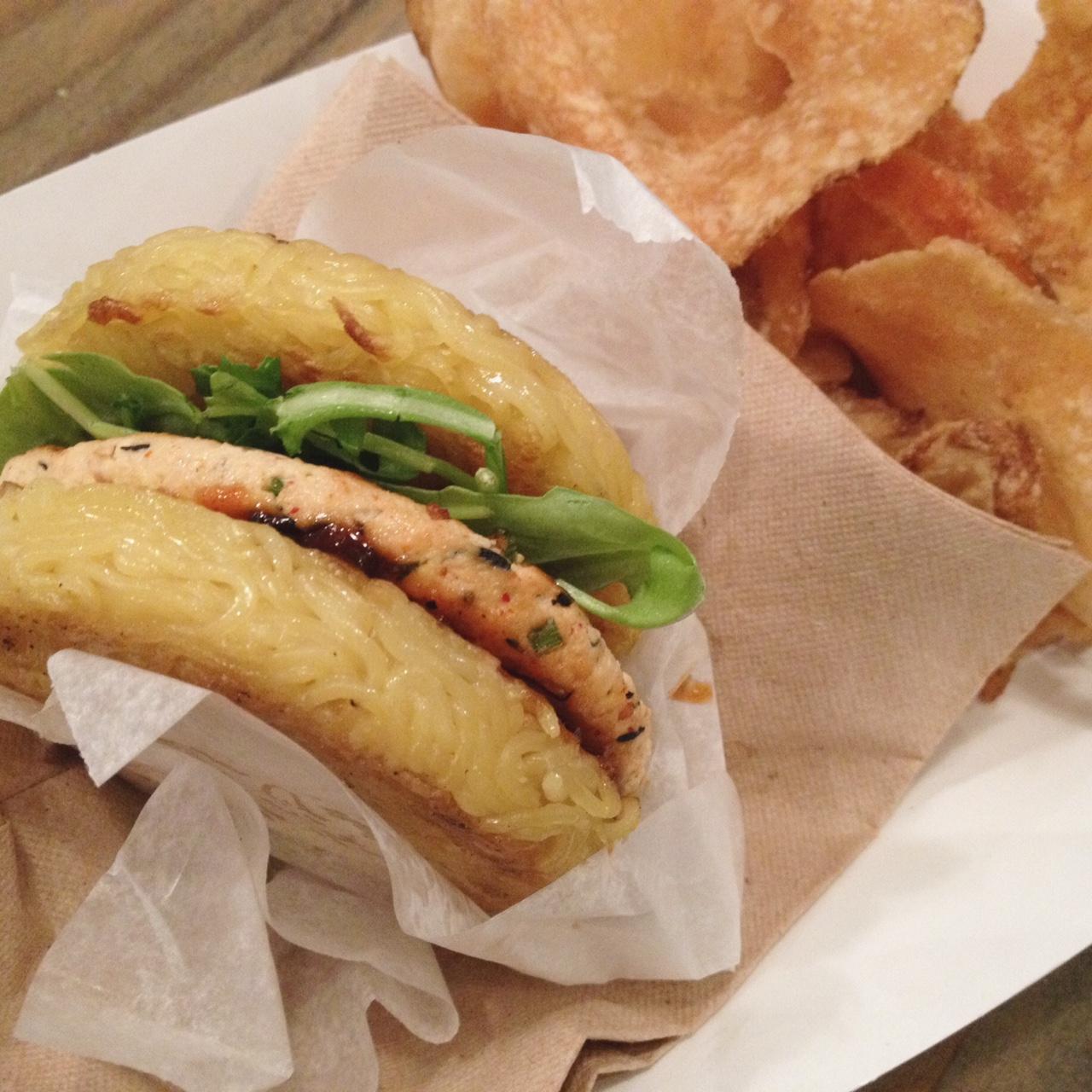 Tofu Ramen Burger, Ramen Co