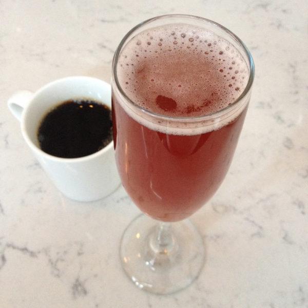 Coffee and Pomosa, Blossom on Carmine