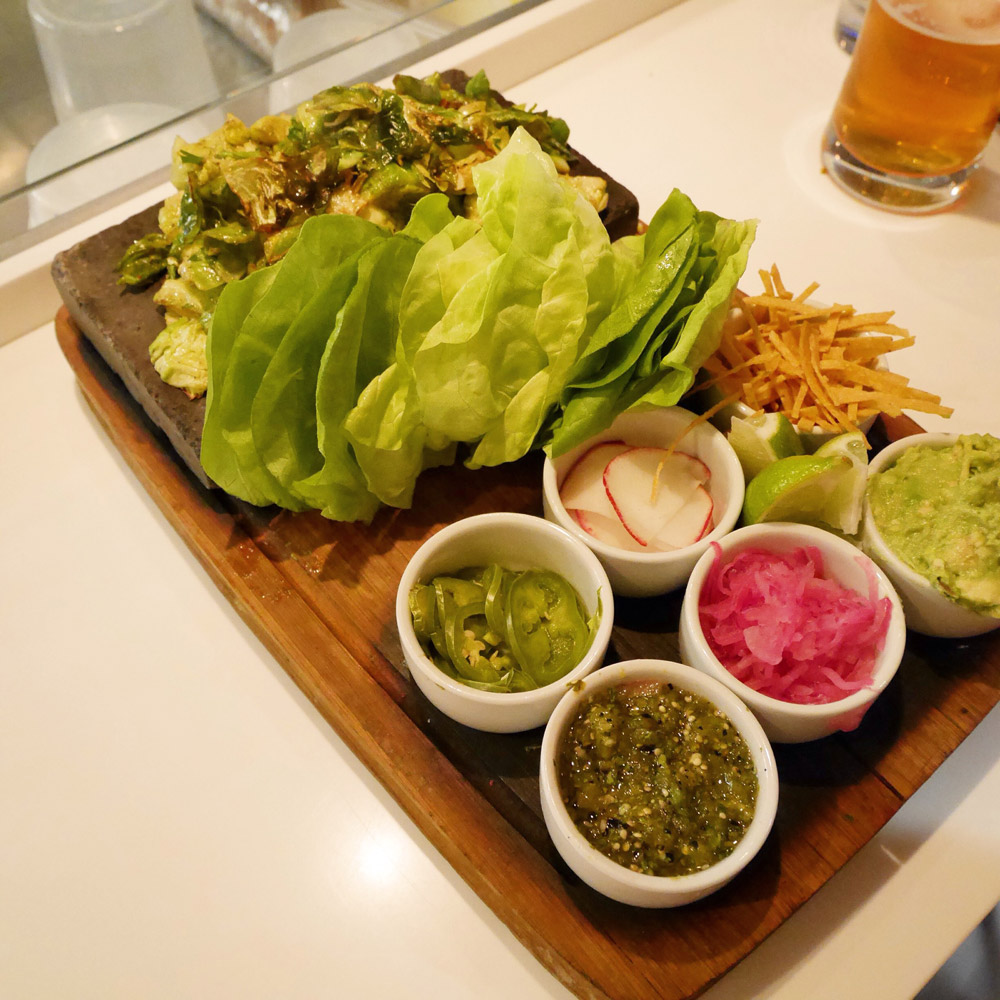Brussels Sprouts Tacos, Dirt Candy
