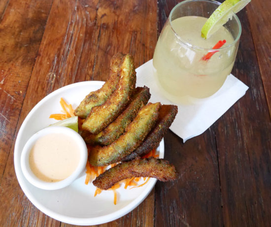 Avocado Fries, Cocktail, V-Spot Organic