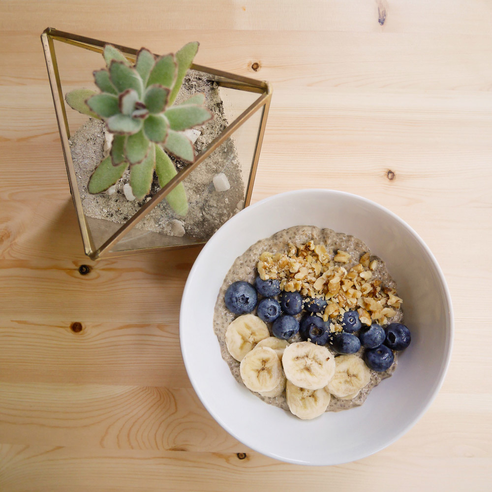 Banana Walnut Chia Pudding, Forelle Raw Vegan Plant-Based Meal Delivery, Portland