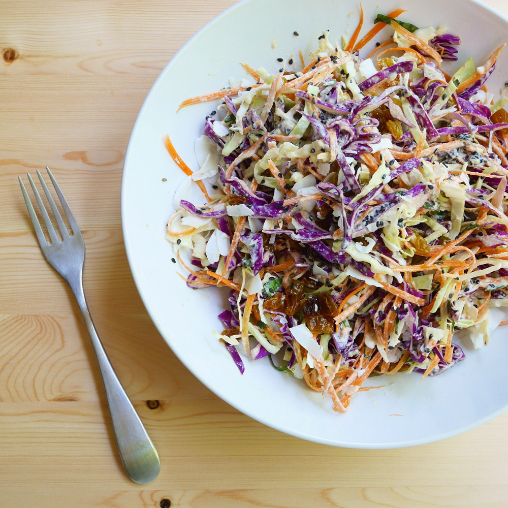 Red Cabbage Slaw with Creamy Dressing, Forelle Raw Vegan Plant-Based Meal Delivery, Portland