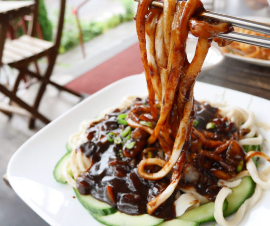 Handpulled Noodles with Black Bean Sauce, Frank's Noodle House