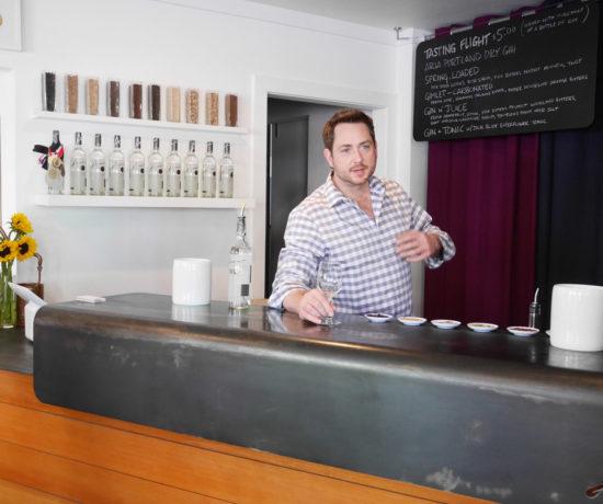 Aria Gin Tasting Room, Owner Ryan Csanky