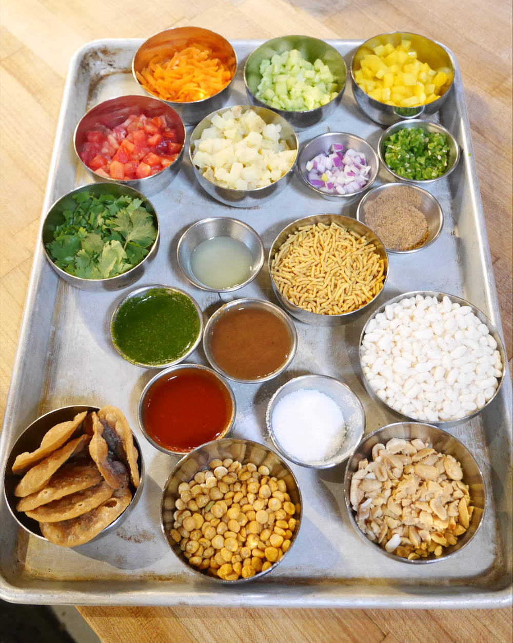 Bhel Puri Ingredients, Bollywood Theater, SE Division, Portland