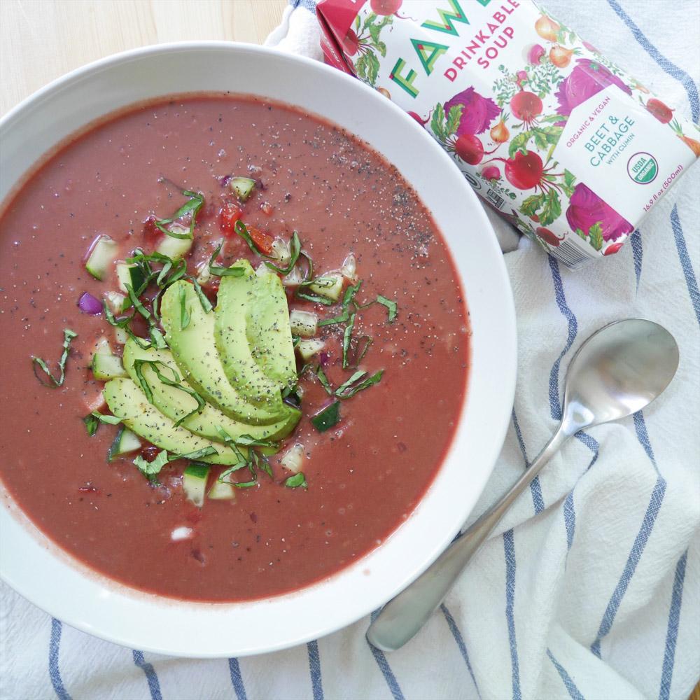 Fawen Organic Vegan Soup, Beet & Cabbage Gazpacho